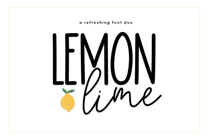 Lemon Lime - A Print/Script Handwritten Font Duo