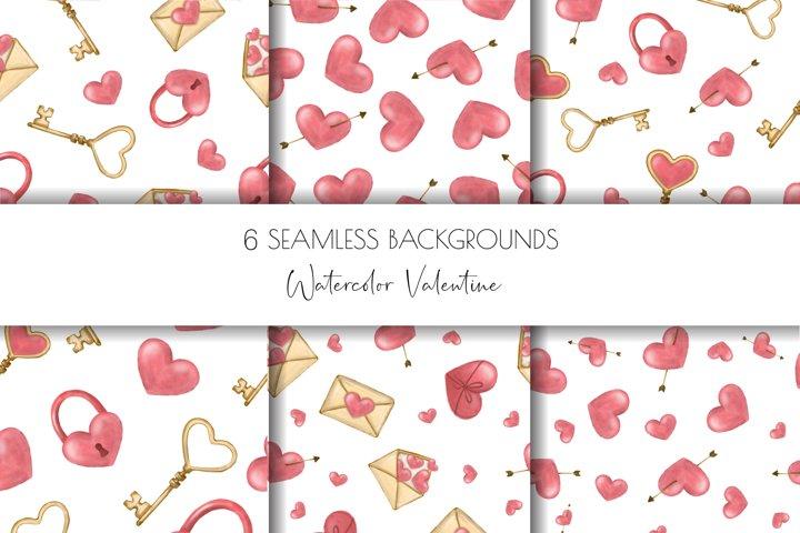 Valentines digital paper,seamless pattern