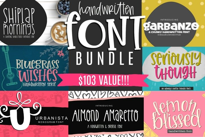 Crafter Handwritten Font Bundle- 7 Smooth Cuttable Fonts