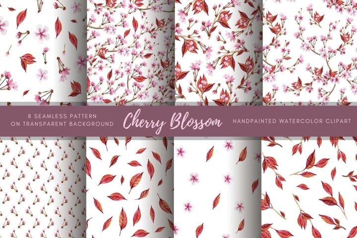 Sakura dpaper. Pink flower seamless pattern