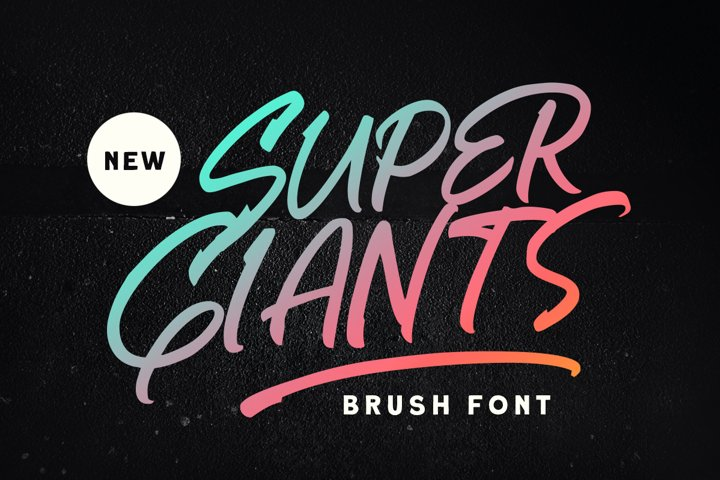 Super Giants - Brush Font