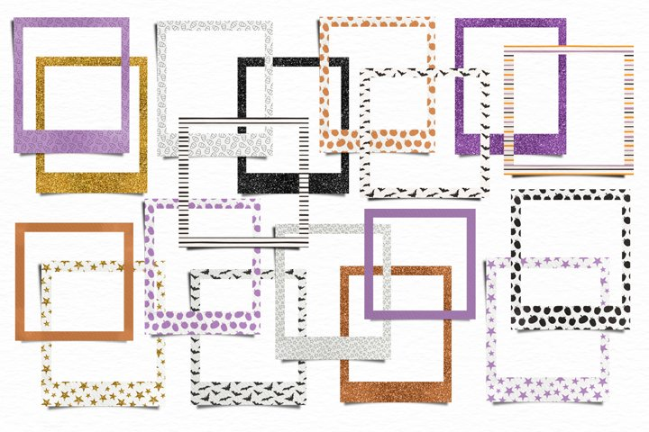 Halloween frames, papers and washi tape