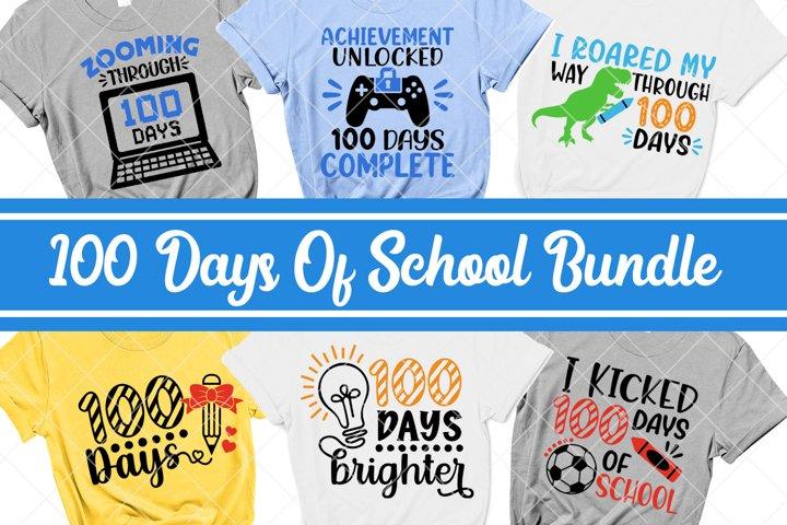 100 Days Of School Svg Bundle, 100 Days Svg, Shirt Design