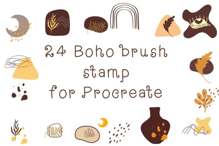 Procreate brush stamp boho shape