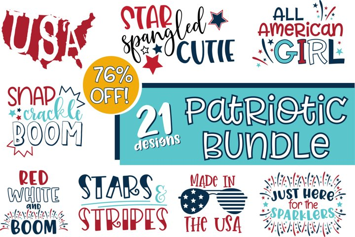 Patriotic 4th of July SVG Bundle for Crafts