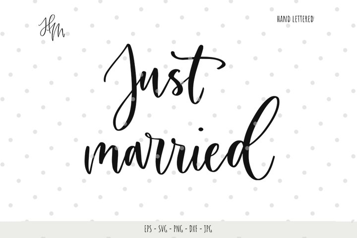 Just married cut file SVG DXF EPS PNG JPG