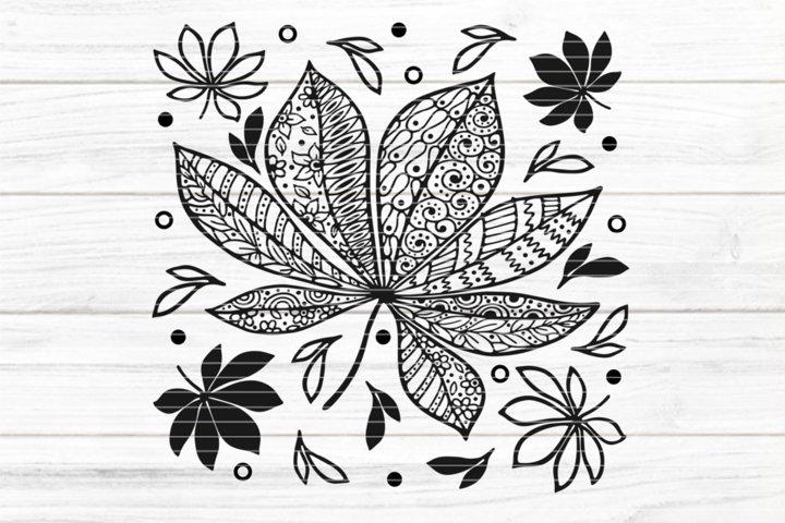 File autumn leafs for Cutting Lasercut Print SVG PDF EPS