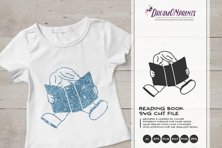 Reading Book SVG | Book Lover SVG Design