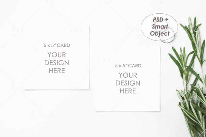 5 x 5 Card Mockup