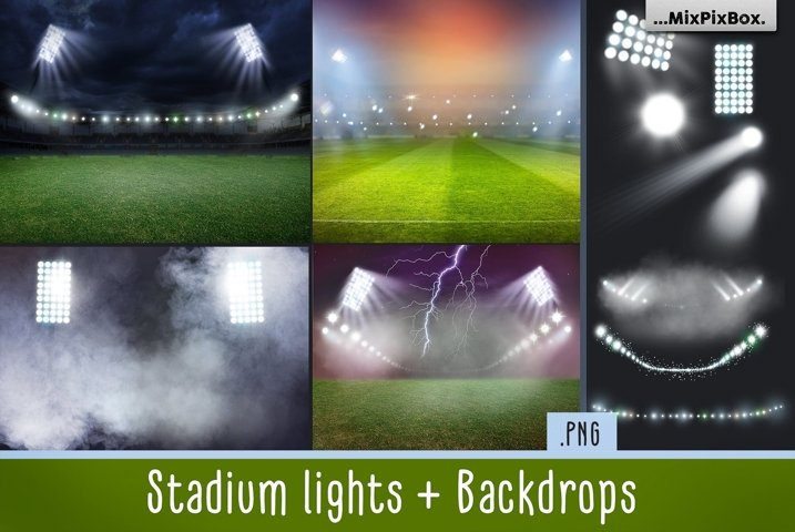 Stadium Lights Overlays and Backdrops