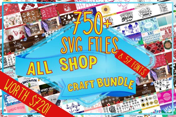 Feyas All Shop Craft Bundle - Over 750 SVG Cut Files