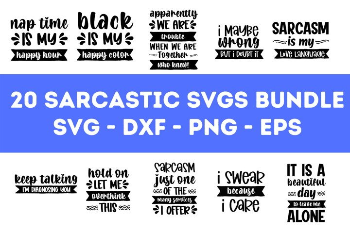 20 Sarcastic SVG Bundle