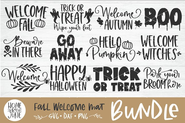Fall/Halloween Welcome Mat Bundle Vol. 1 SVG DXF PNG