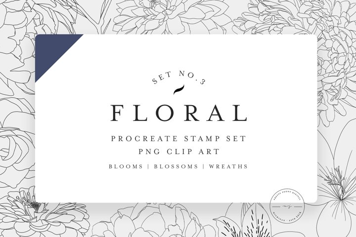 20 Procreate Floral Stamps Vol. 3