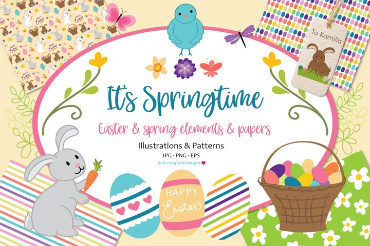 Its Springtime - Easter & Spring Graphics and Papers