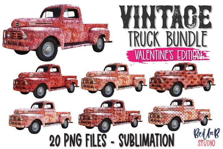 Vintage Valentines Day Truck Elements Bundle