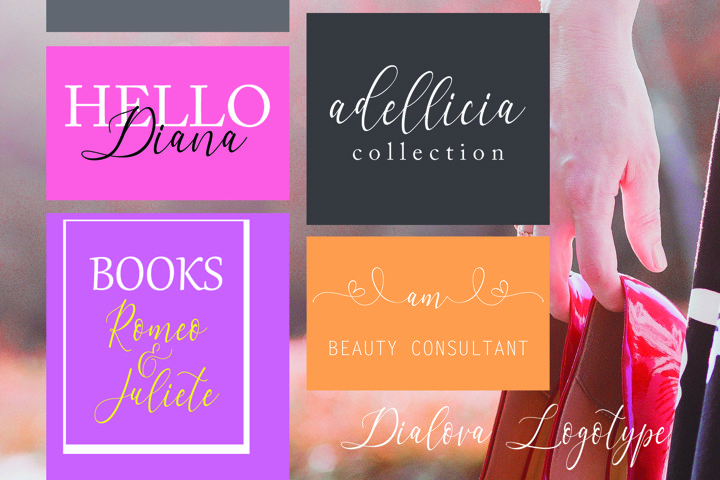 Dialova - Beautiful Calligraphy - Free Font of The Week Design2