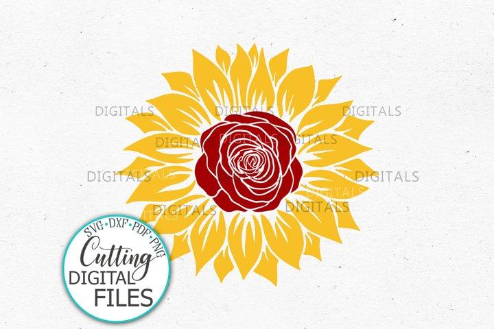 Sunflower Rose Svg dxf template for Cricut sublimation print
