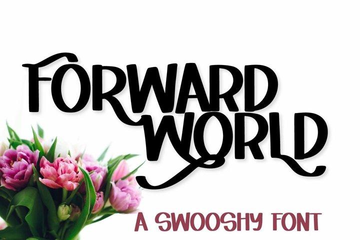 Web Font Forward World - A Swoosh-y Lettering Font