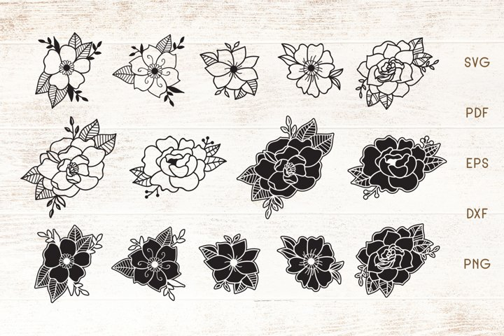 Flowers SVG Elements Set - Floral SVG Cliparts