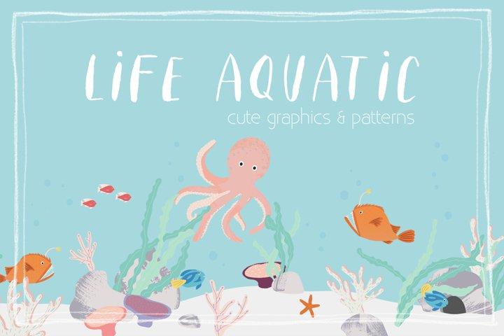 Life Aquatic   Patterns & Graphics