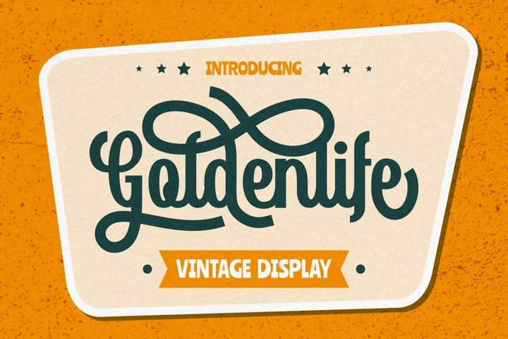 Goldenlife - Vintage Display
