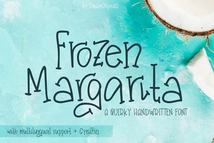 Web Font Frozen Margarita - a Quirky Handwritten Font