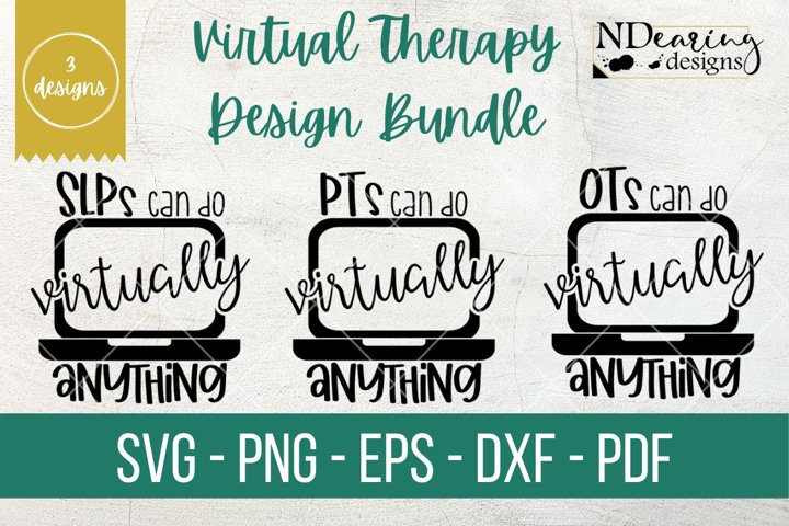 Virtual Therapy Design Bundle PT OT SLP SVG Cut File