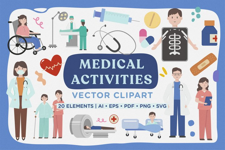 Medical Activity Vector Clipart Pack