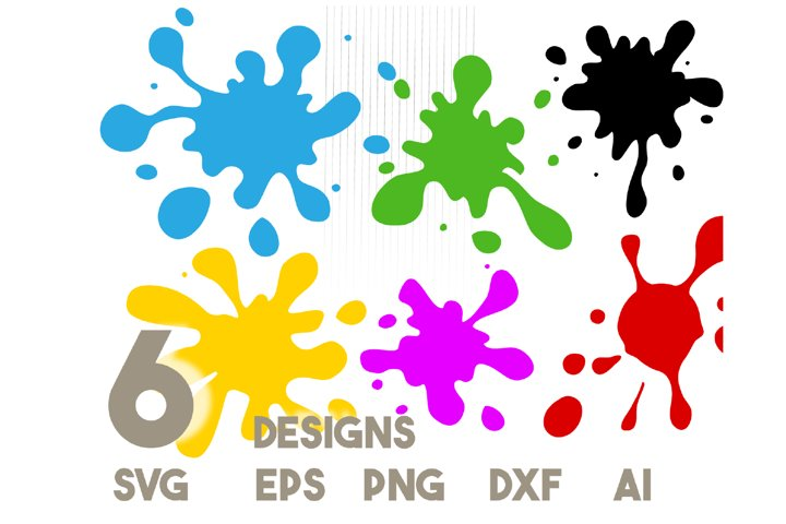 Paint splatter svg - Paint splats svg, Splatter svg file