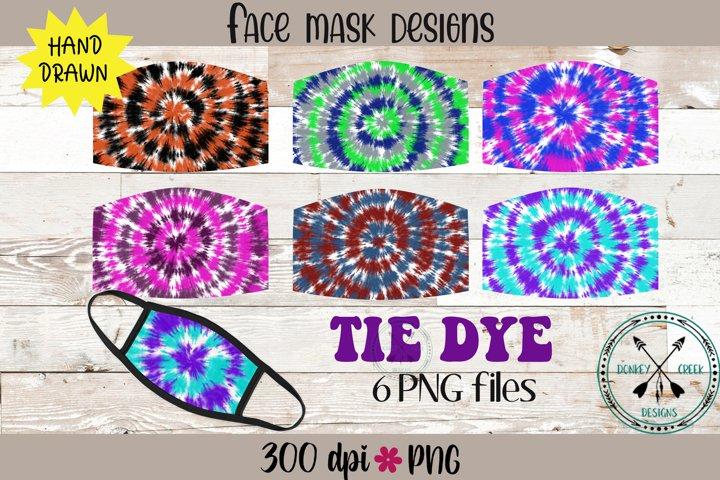 Tie Dye Face Mask Sublimation Bundle