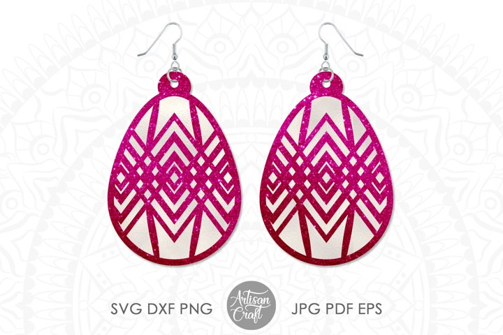 Earrings SVG, oval earrings, Easter earring SVG