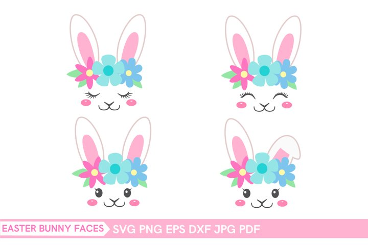 Easter bunny face SVG