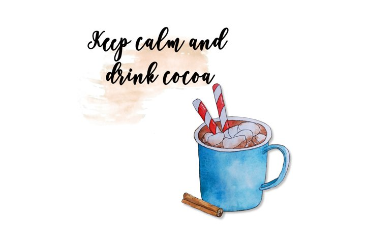 Keep calm sublimation, cocoa clipart, christmas sublimation