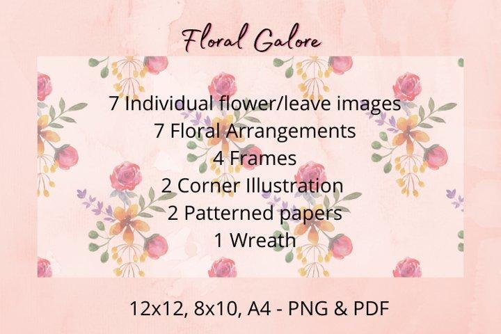 Watercolour Floral Set- Floral Galore