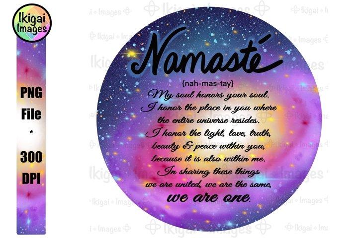 Namaste Definition Word Art, Spiritual Universe, We Are One