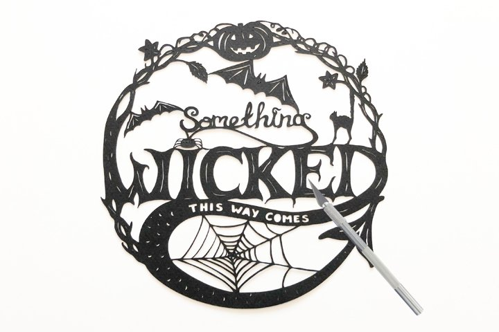 Something Wicked Halloween Paper Cut
