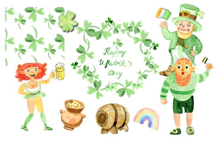 Cartoon St. Patricks Day