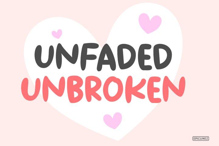 Unbroken - A Bold Handwritten Font example 4