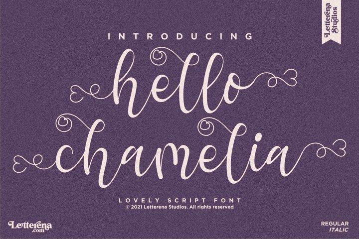 hello chamelia - Lovely Script Font