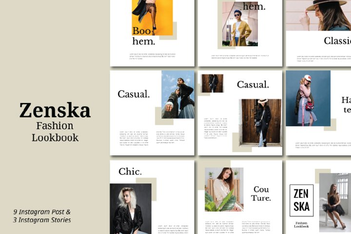 Zenska Fashion Instagram Template Vol 1