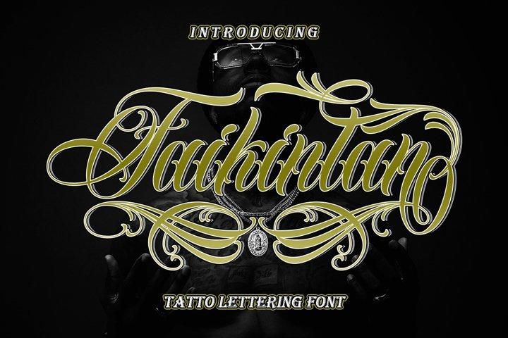 Faikinlan - Tattoo Lettering Font