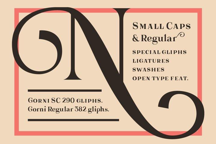 Gorni Typeface - Free Font of The Week Design0