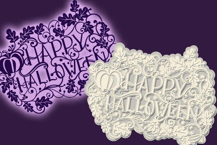 3D Halloween - 4 SVG cut files example 1