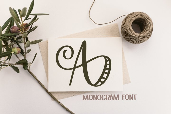 Monogram Striped Font - A Lovely Monogram Font