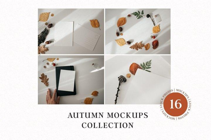 Autumn mockups   Cards   Fall leaves   Stock photos