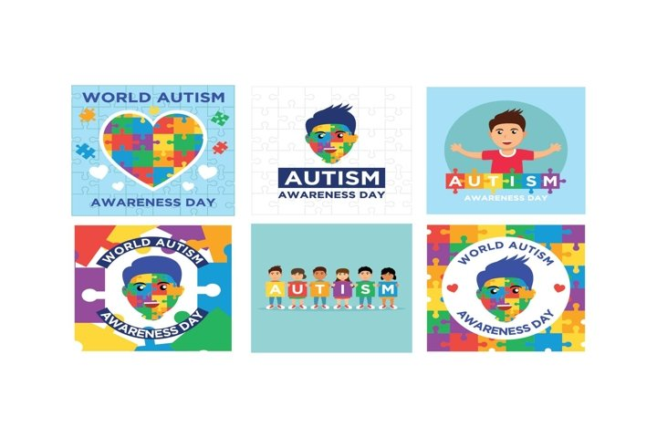 Bundle Autism Flat Design