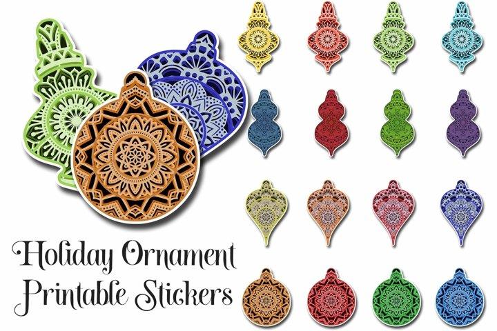 Christmas Ornament Printable Stickers