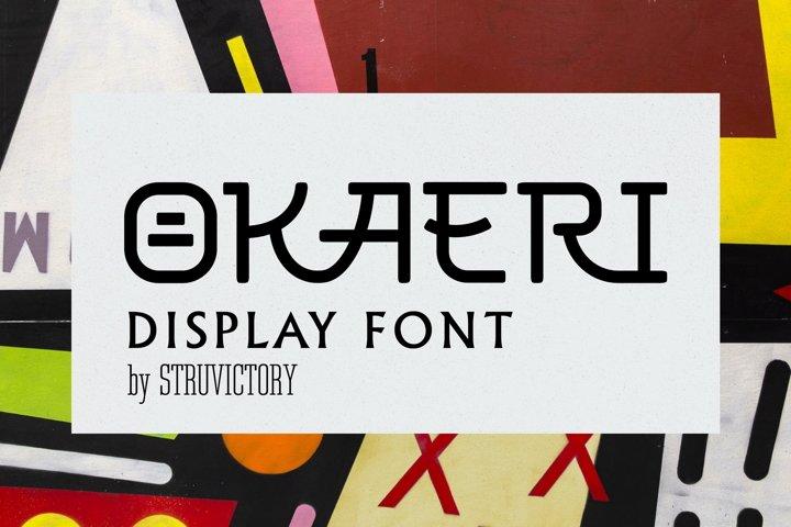 OKAERI - Decorative Ligature Font
