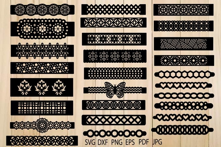 Bracelets Svg, Bracelets Template, Leather Bracelets SVG